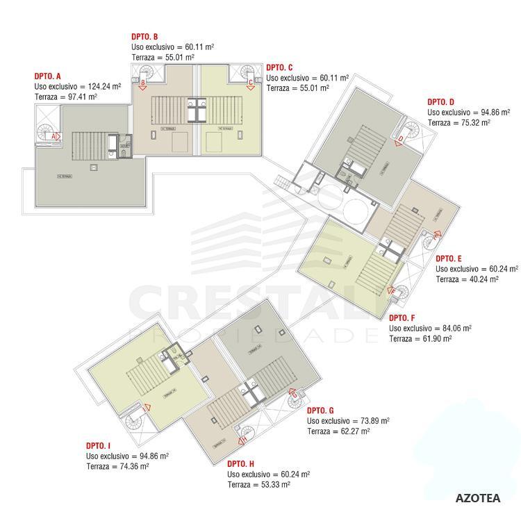 Venta departamento 3 dormitorios Funes, Funes. Cod 2605. Crestale Propiedades