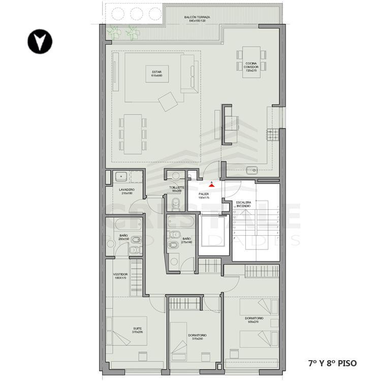 Venta departamento 2 dormitorios Rosario, Centro. Cod 4290. Crestale Propiedades