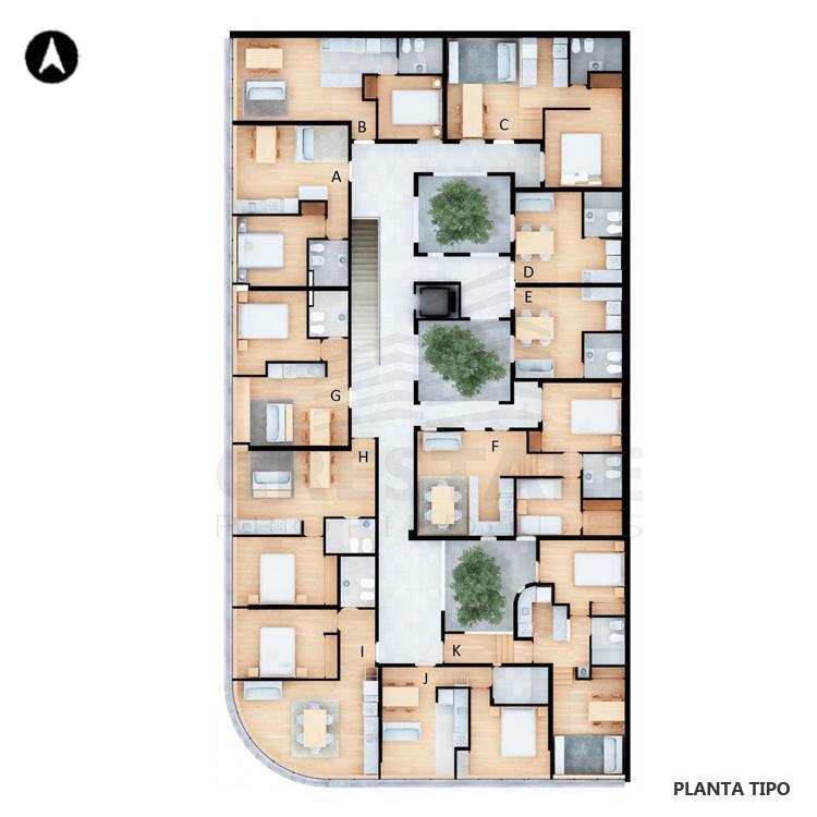 Venta departamento 1 dormitorio Rosario, Centro. Cod 2219. Crestale Propiedades