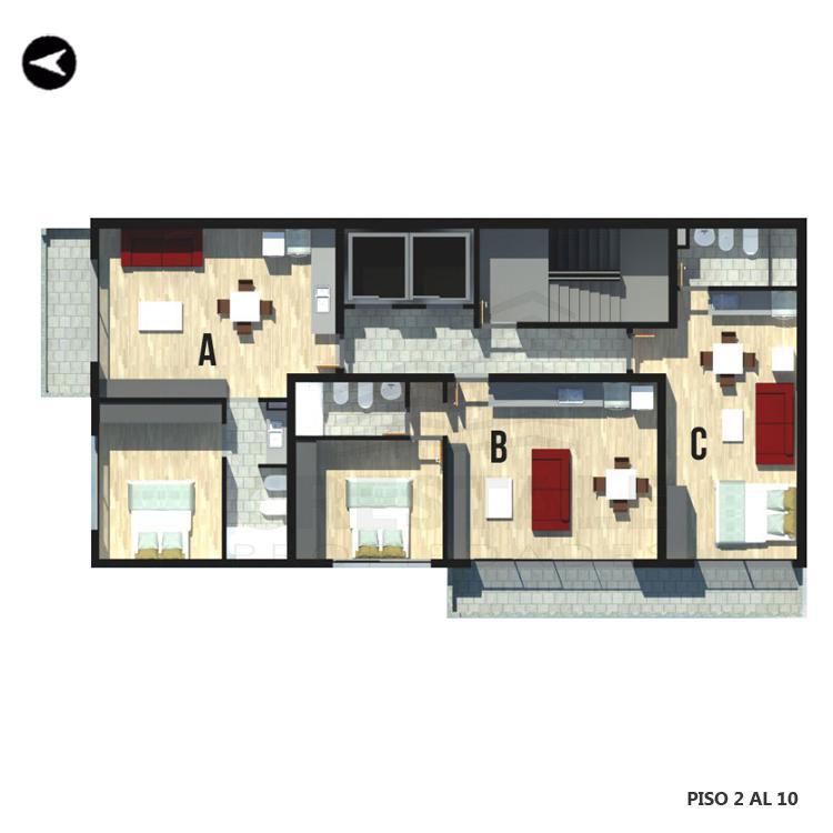 Venta departamento 1 dormitorio Rosario, Centro. Cod 2126. Crestale Propiedades