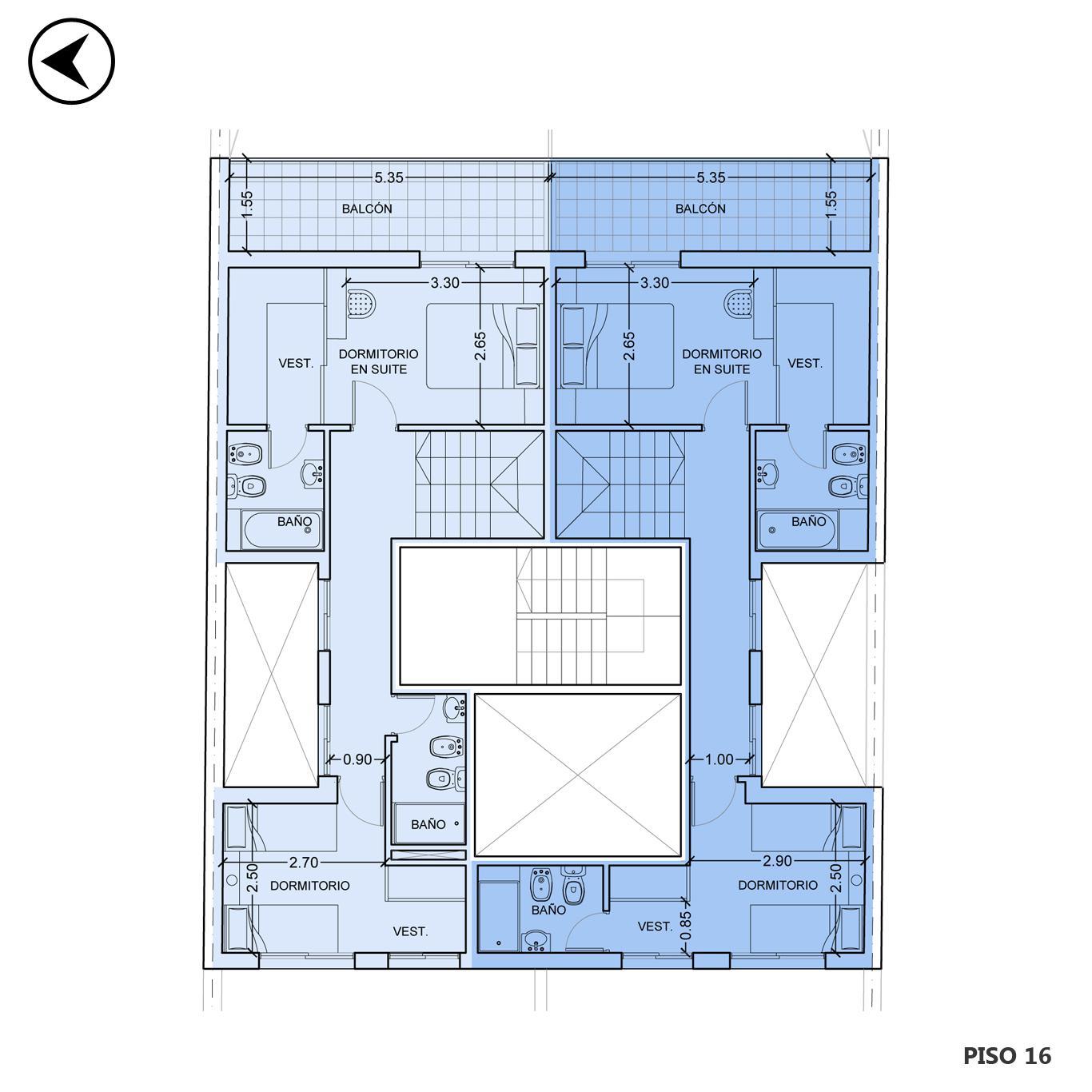 Venta departamento 2 dormitorios Rosario, Centro. Cod CBU22954 AP2292140. Crestale Propiedades