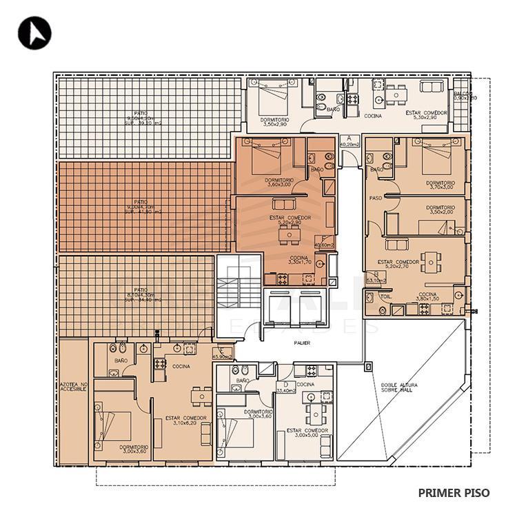 Venta departamento 1 dormitorio Rosario, Centro. Cod 1177. Crestale Propiedades