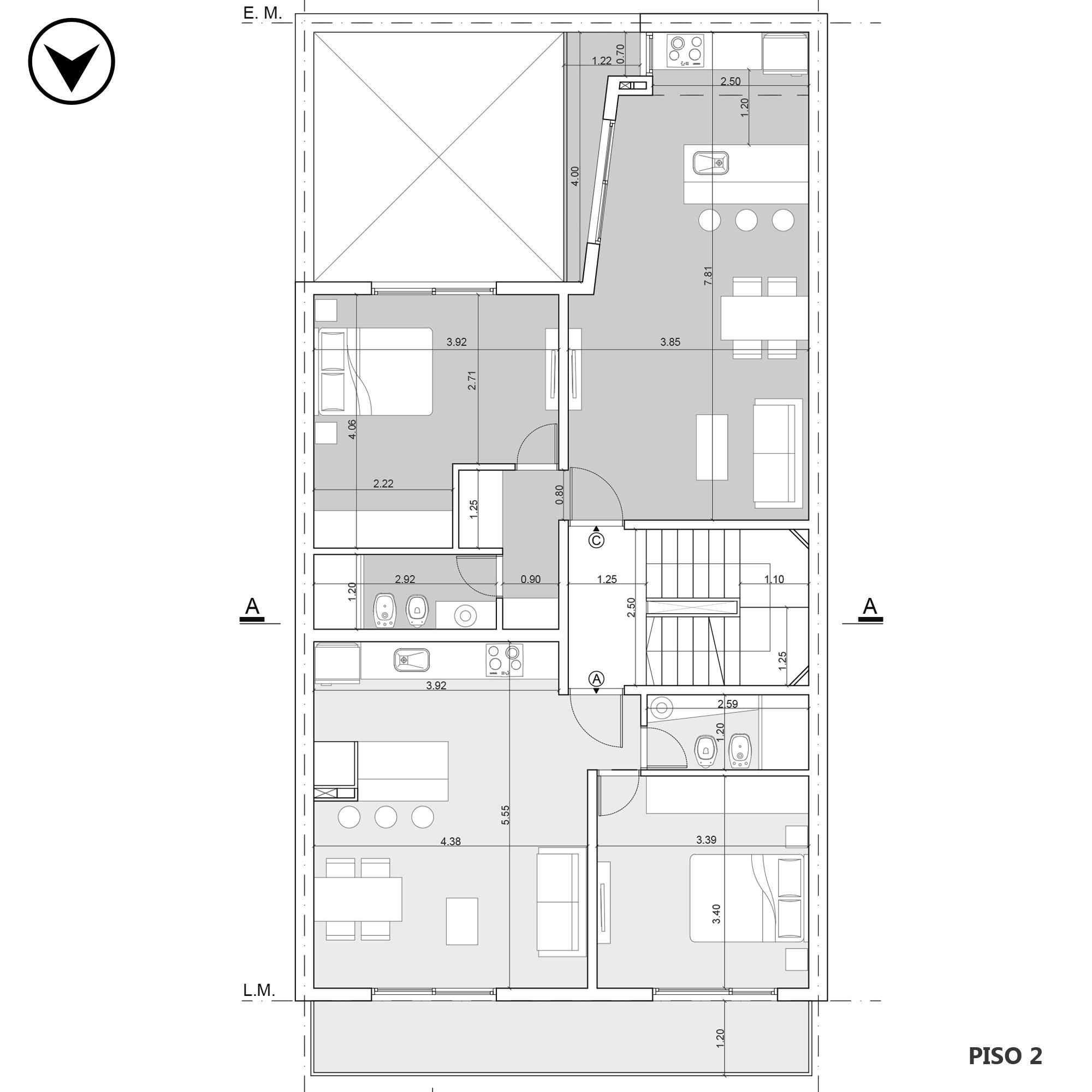 Venta departamento 1 dormitorio Rosario, Norte. Cod CBU20156 AP1976809. Crestale Propiedades