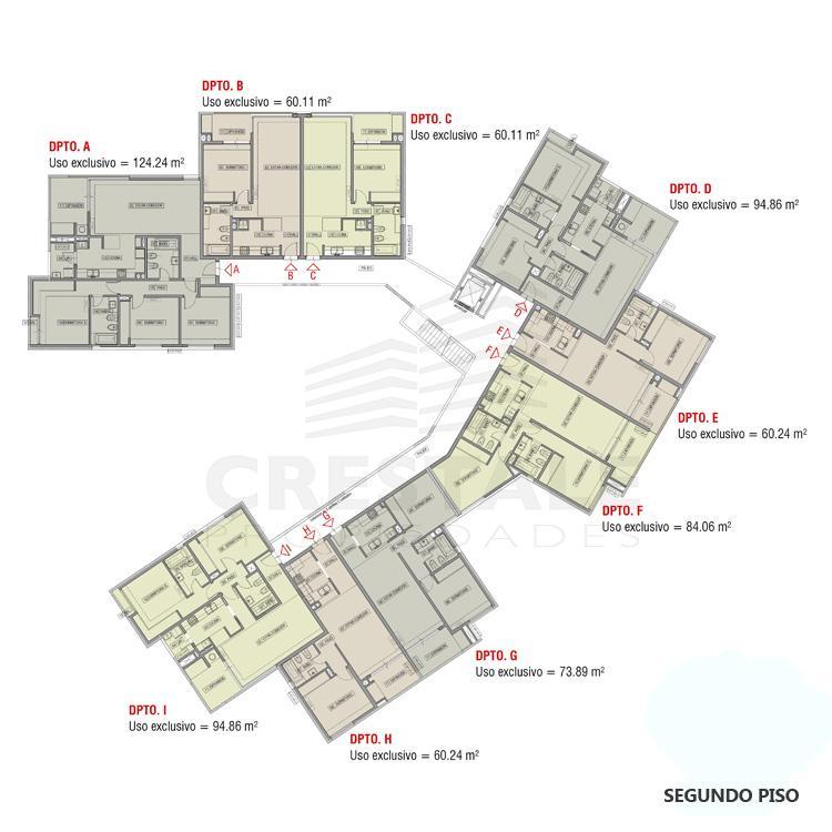 Venta departamento 1 dormitorio Funes, Funes. Cod CBU11840 AP2217821. Crestale Propiedades