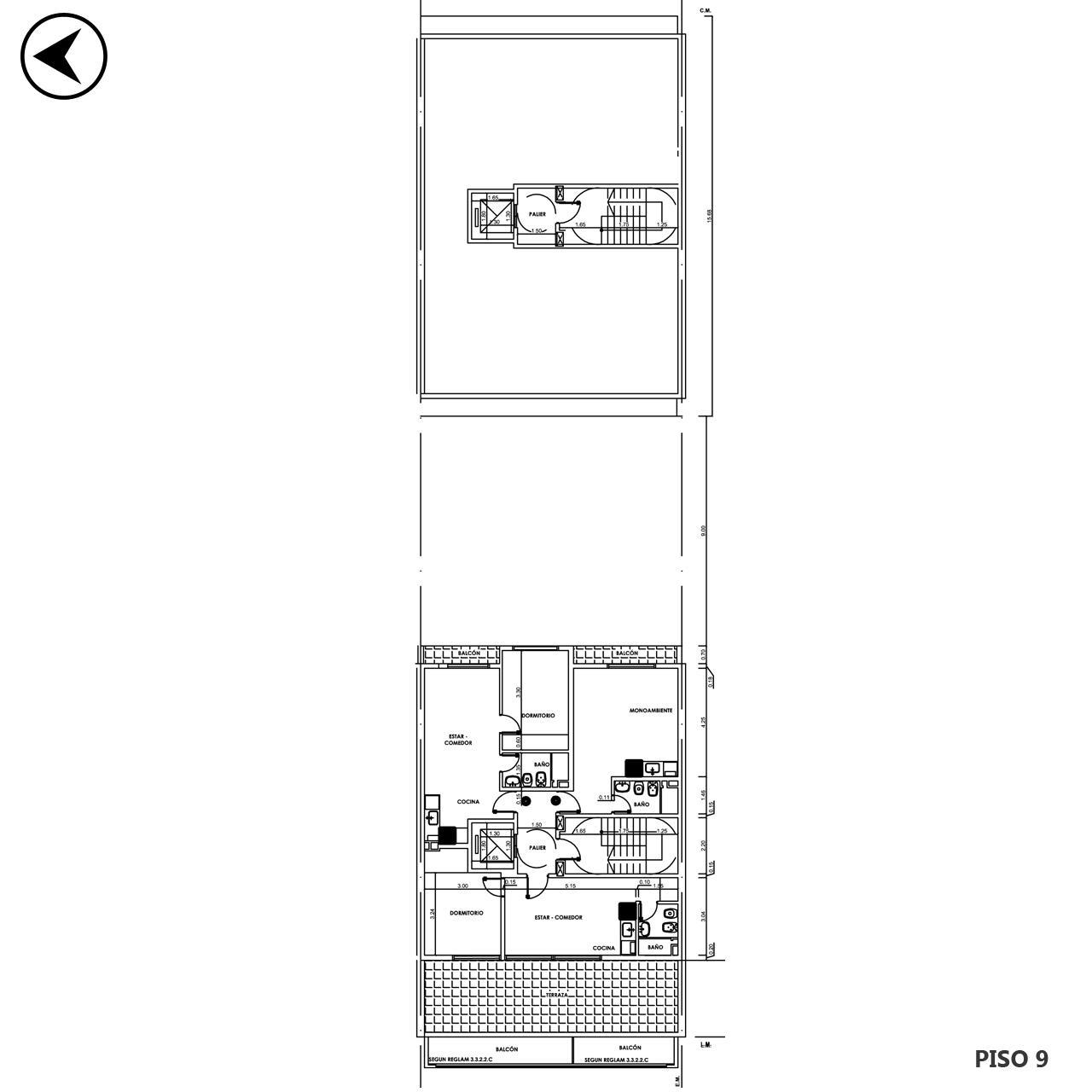 Venta departamento 1 dormitorio Rosario, Parque España. Cod CBU12472 AP2199755. Crestale Propiedades