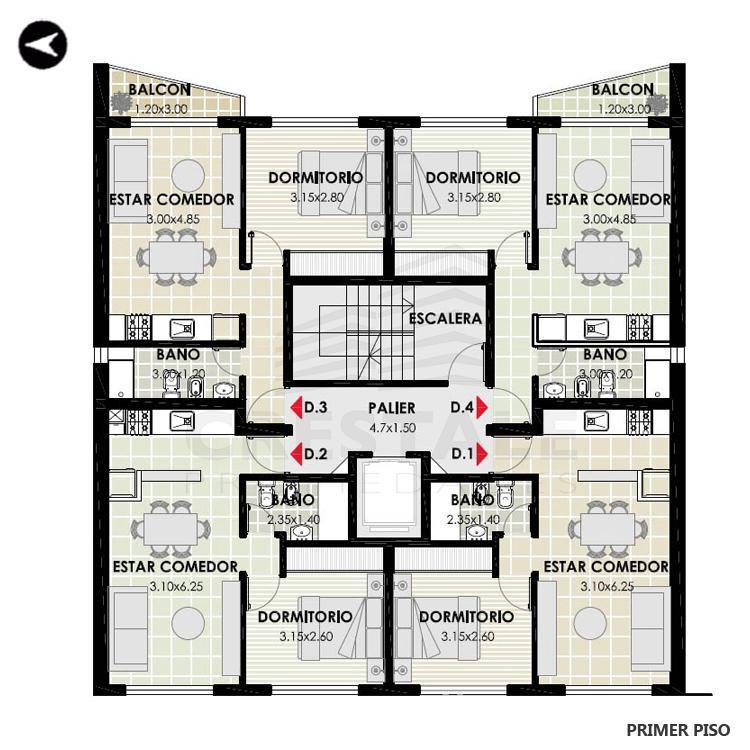 Venta departamento 1 dormitorio Rosario, Centro. Cod 3271. Crestale Propiedades