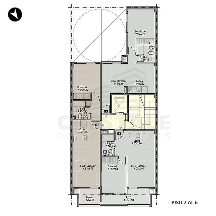 Venta departamento 1 dormitorio Rosario, Centro. Cod 1340. Crestale Propiedades
