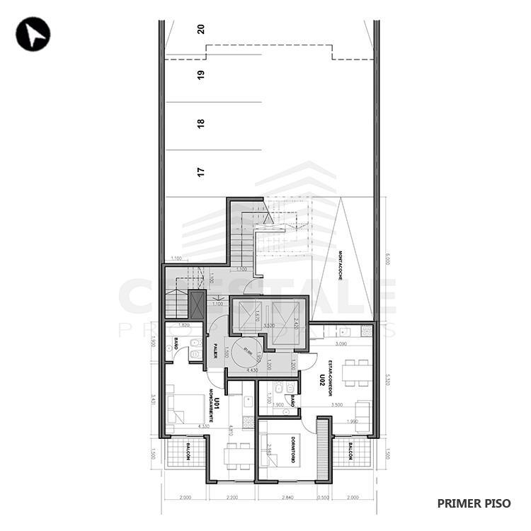 Venta departamento 1 dormitorio Rosario, Echesortu. Cod 1457. Crestale Propiedades