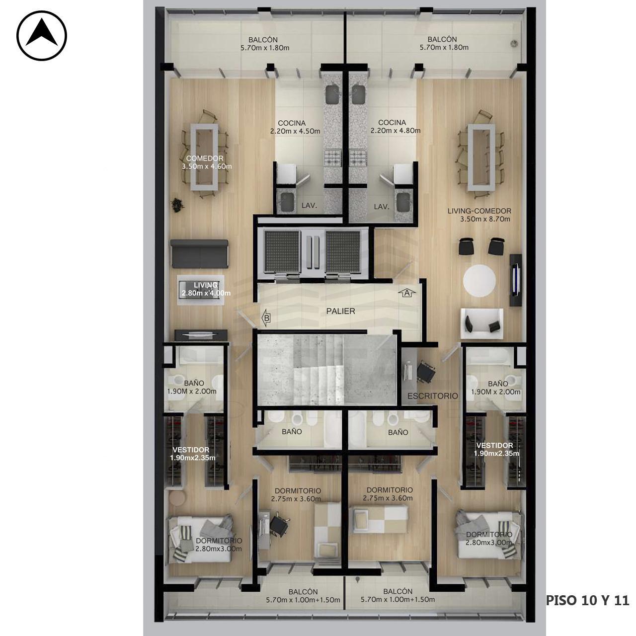 Venta departamento 1 dormitorio Rosario, Centro. Cod CBU10998 AP2310779. Crestale Propiedades