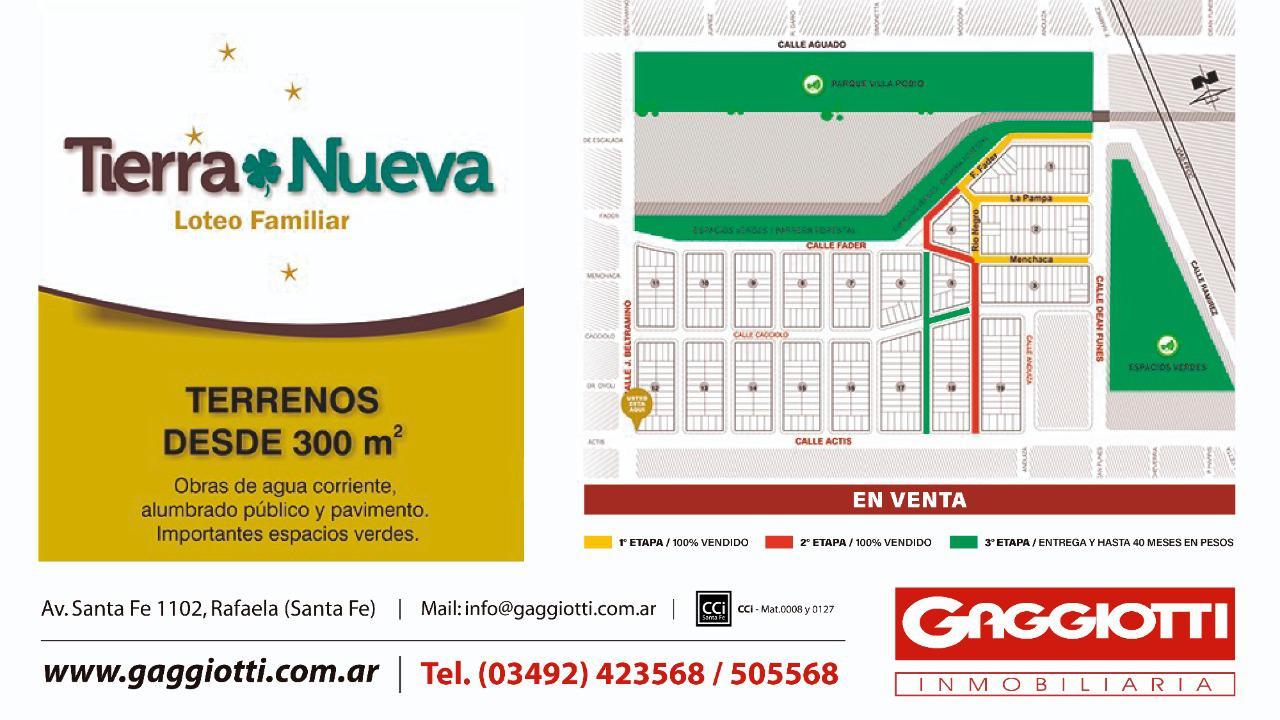 Loteo Tierra Nueva - Gaggiotti Inmobiliaria cuenta con más de 50 años desde que se inicio en el negocio de los servicios inmobiliarios.
