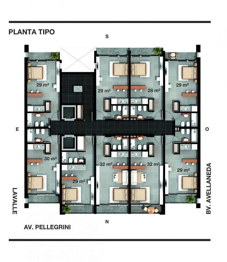 Foto Edificio en Bella Vista AVENIDA PELLEGRINI 4041 número 8