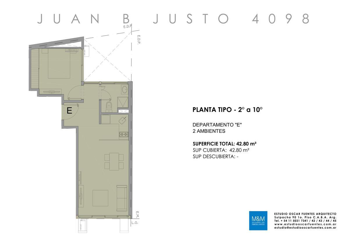 Foto Edificio en Caballito Juan B Justo 4098 número 21