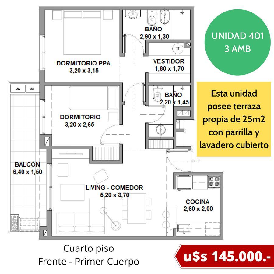 Departamentos con cochera fija en Tigre - Excelente ubicación - Fideicomiso al costo en pesos-14