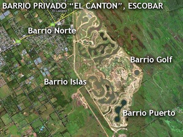 Foto Terreno en Venta en  El Canton - Golf,  Countries/B.Cerrado (Escobar)                                 Barrio  El Cantón,Golf.  lote a espejo de agua, Escobar