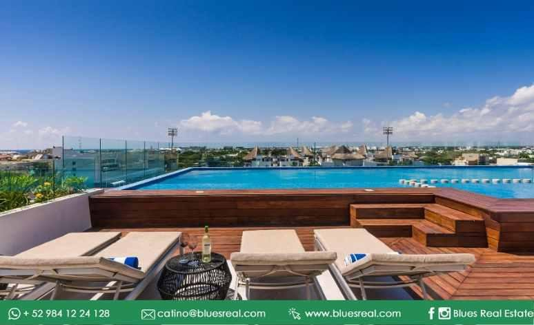 Unit picture Apartment in Sale in  Playa del Carmen,  Solidaridad  For sale new apartments in Marea 34 in Playa del Carmen | Blues Real | Code 464