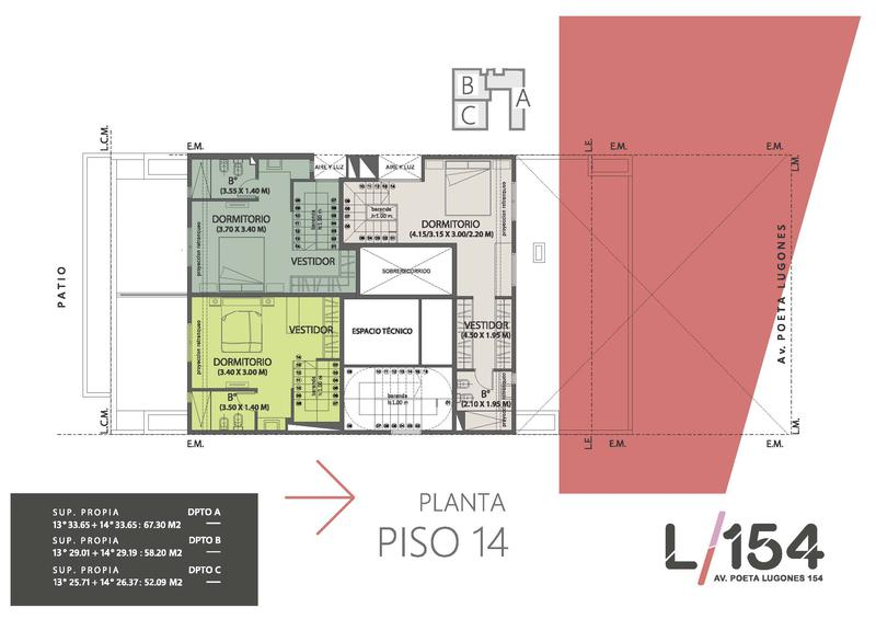 Foto Edificio en Nueva Cordoba Av. Poeta Lugones 154- L154 número 7