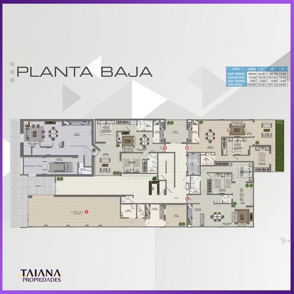 Foto Edificio en Nueva Cordoba             Lanin 9-Fructuoso Rivera 150           número 20
