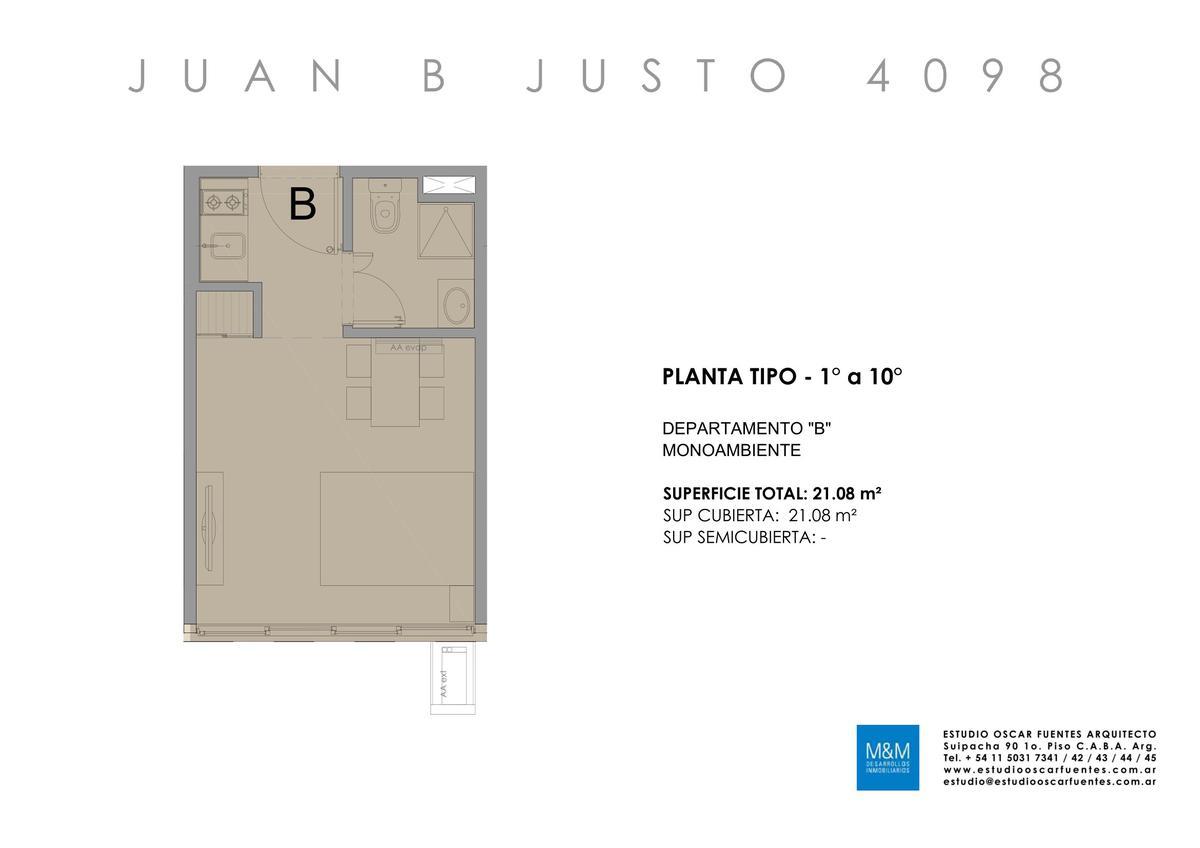 Foto Edificio en Caballito Juan B Justo 4098 número 18
