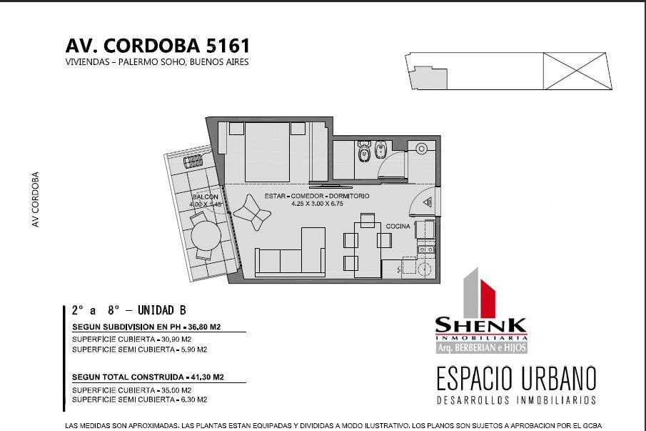 Foto Edificio en Palermo CORDOBA 5100 número 19