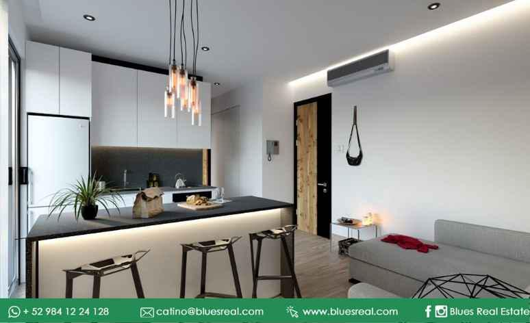Unit picture Apartment in Sale in  Solidaridad ,  Quintana Roo  Apartments for sale in Condo Huaya 18 | Blues Real | Code 669