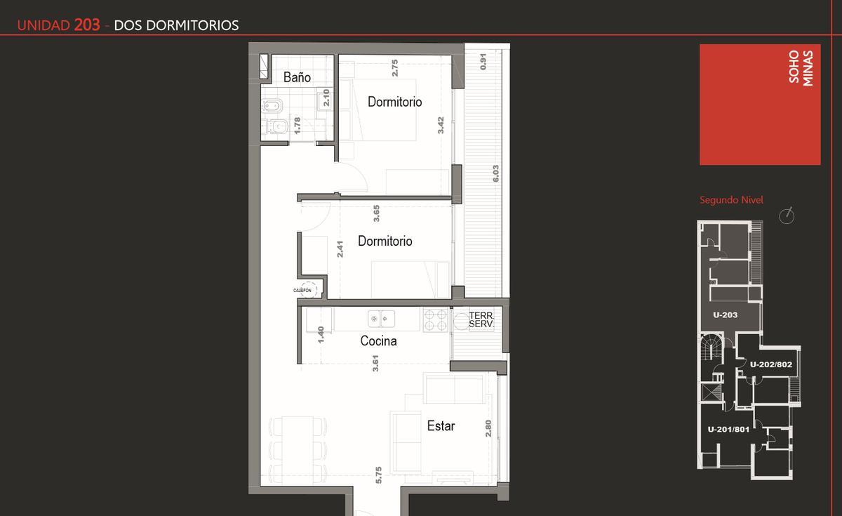 Foto Edificio en Cordón Apartamentos de 1 y 2 dormitorios SOHO Minas número 7