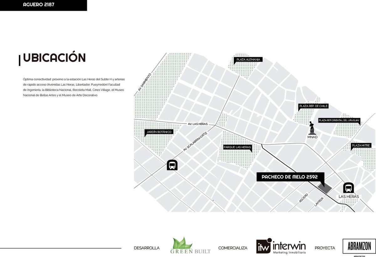 Emprendimiento Pacheco de Melo y Aguero en Recoleta