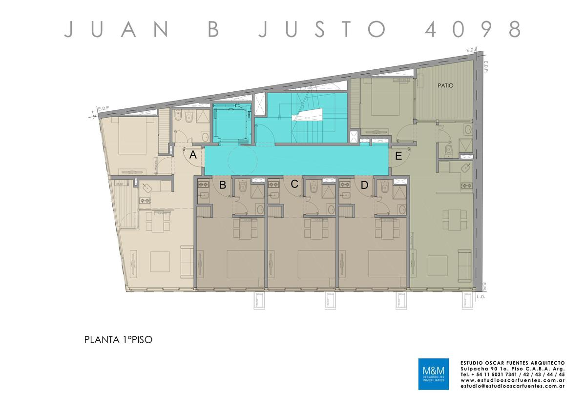 Foto Edificio en Caballito Juan B Justo 4098 número 12