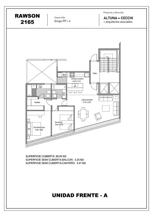 Foto Edificio en Mart.-Vias/Santa Fe Rawson 2165 1° A numero 2