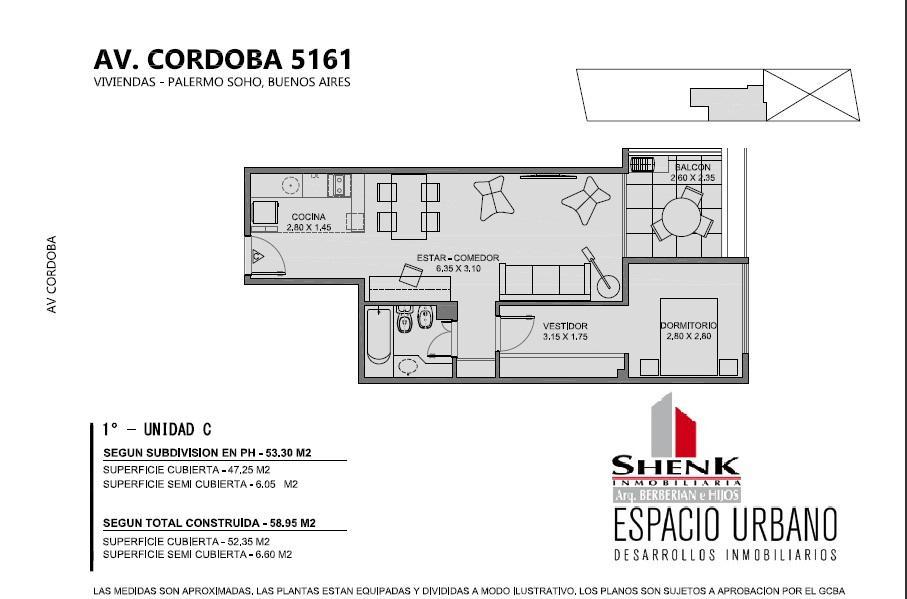 Foto Edificio en Palermo CORDOBA 5100 número 8