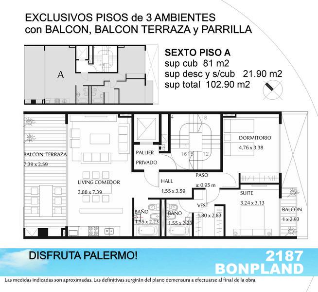 Foto Edificio en Palermo Hollywood Bonpland y Guatemala número 9