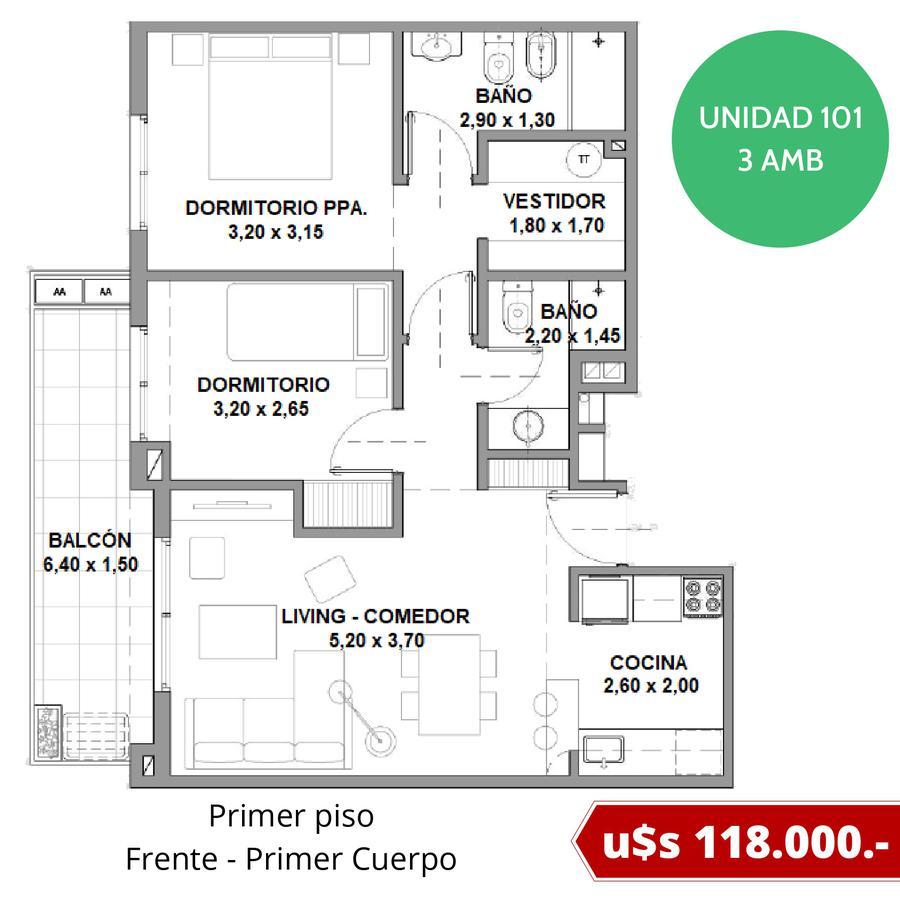 Departamentos con cochera fija en Tigre - Excelente ubicación - Fideicomiso al costo en pesos-10