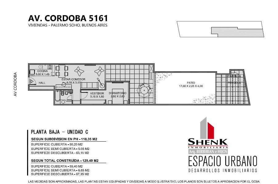 Foto Edificio en Palermo CORDOBA 5100 número 7