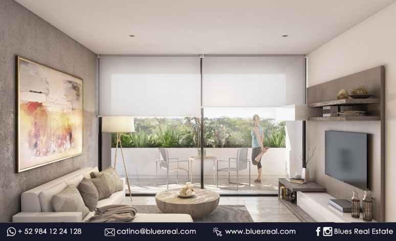 Unit picture Apartment in Sale in  Playa del Carmen,  Solidaridad  For sale new apartments in Pura Playa Condo | Blues Real | Code 463