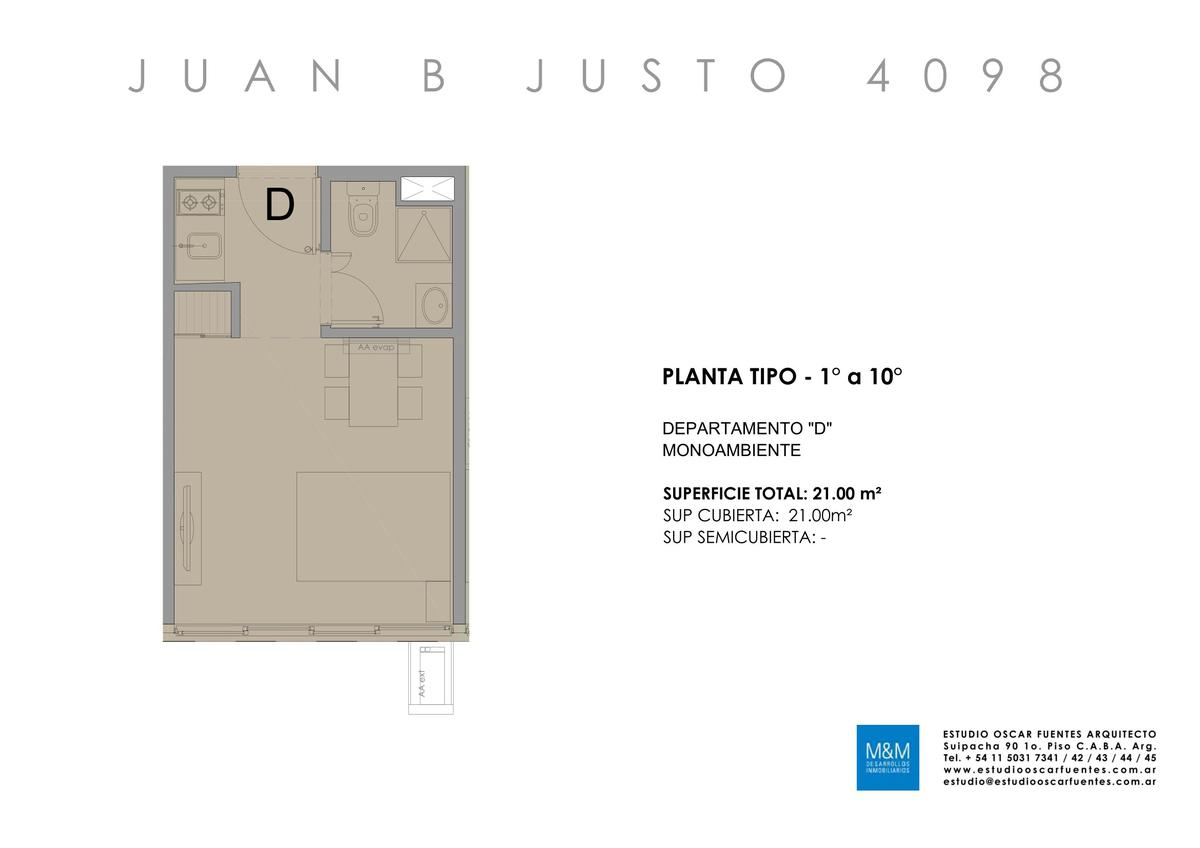 Foto Edificio en Caballito Juan B Justo 4098 número 17