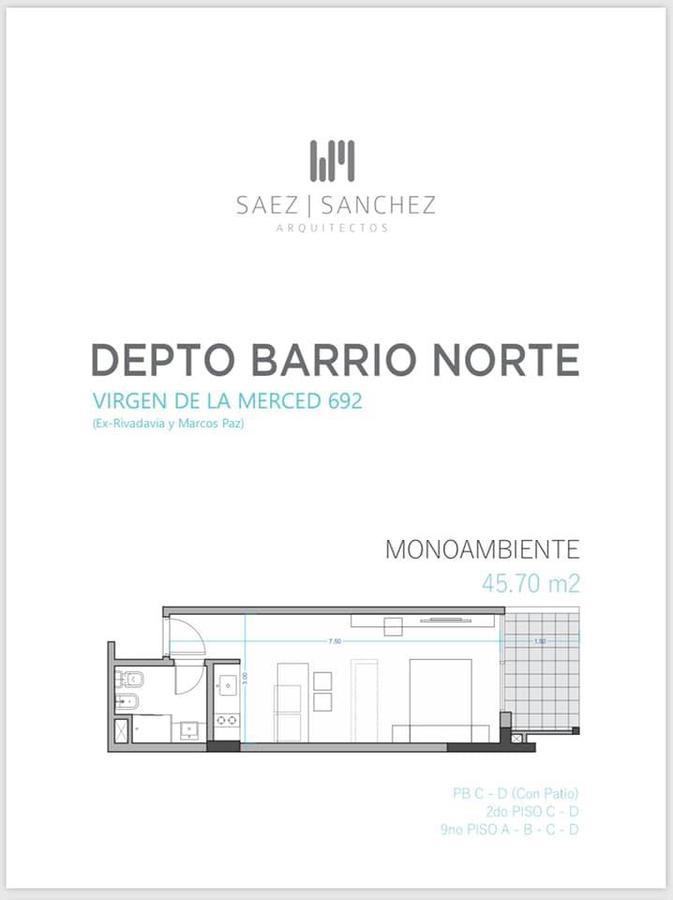 Foto Edificio en Barrio Norte virgen de la merced 692 número 3