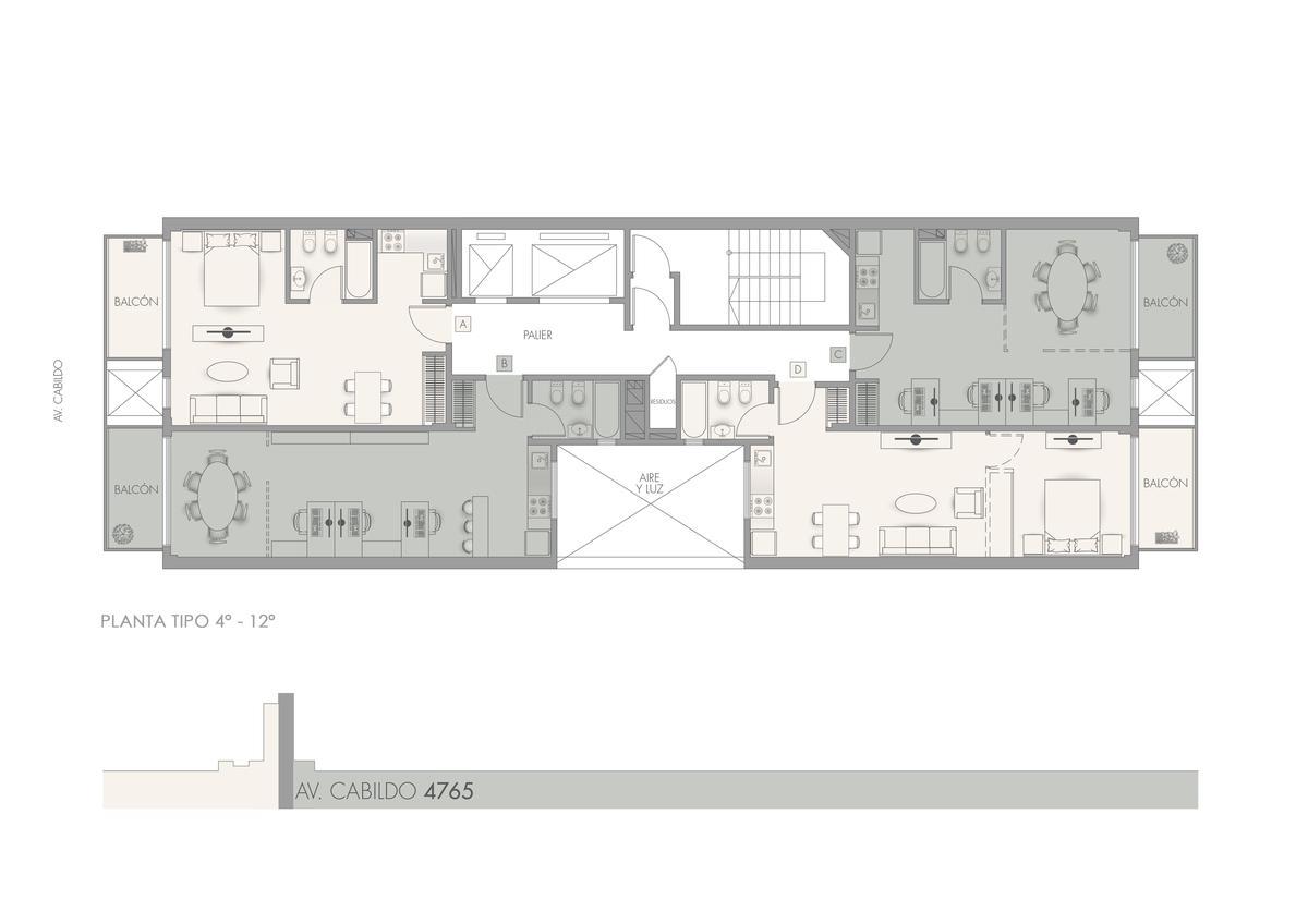 Foto Edificio en Nuñez             CABILDO 4765           número 3
