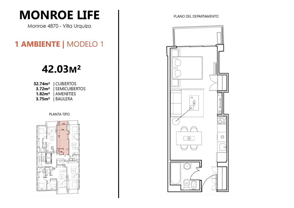 Emprendimiento Monroe al 4800 en Villa Urquiza