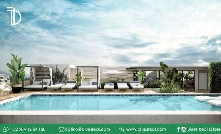 Unit picture Apartment in Sale in  Solidaridad ,  Quintana Roo  For sale NEW studios near fifth avenue in Torre Diez at Playa del Carmen | Blues Real | Code 906