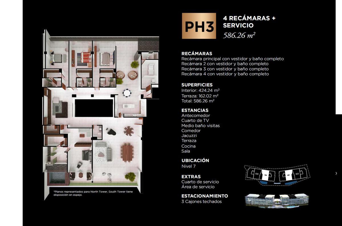 """Foto Edificio en Cancún Centro ALLURE Osean Front Luxury Condos """"Vive en la playa y en la ciudad""""  número 38"""