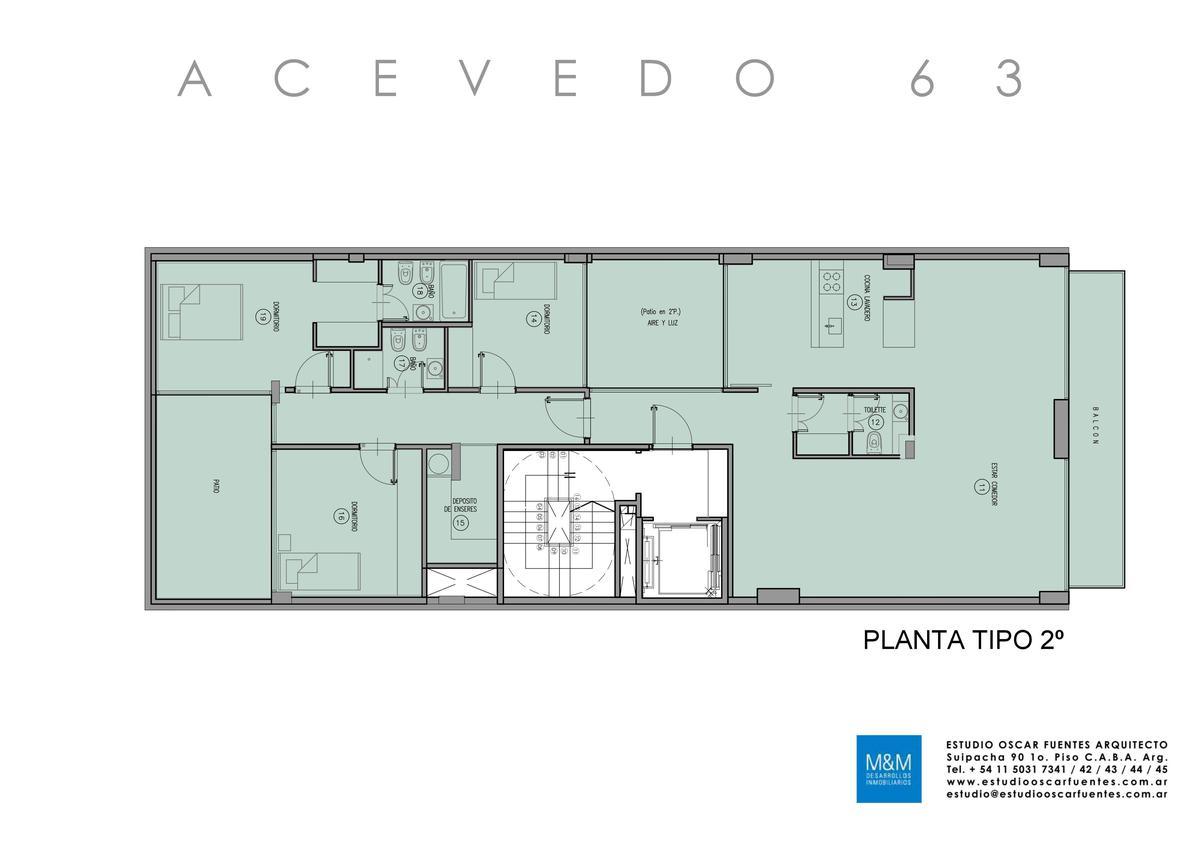 Foto Edificio en Caballito Eduardo Acevedo 63 número 10
