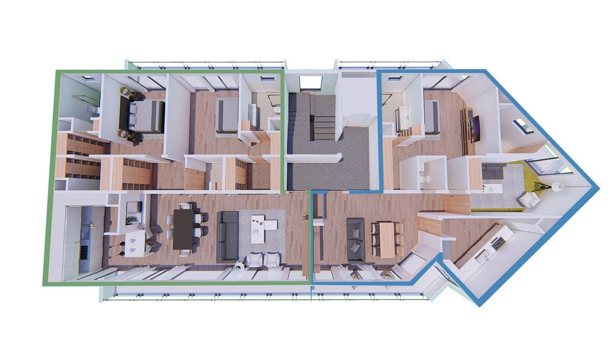 Exclusivo edificio de 4 plantas, 8 unidades de vivienda en Victoria, Punta Chica-3