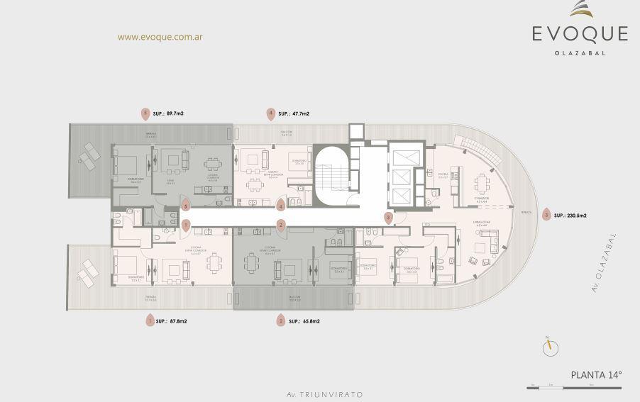 Emprendimiento Olazabal 4889 - Evoque en Villa Urquiza