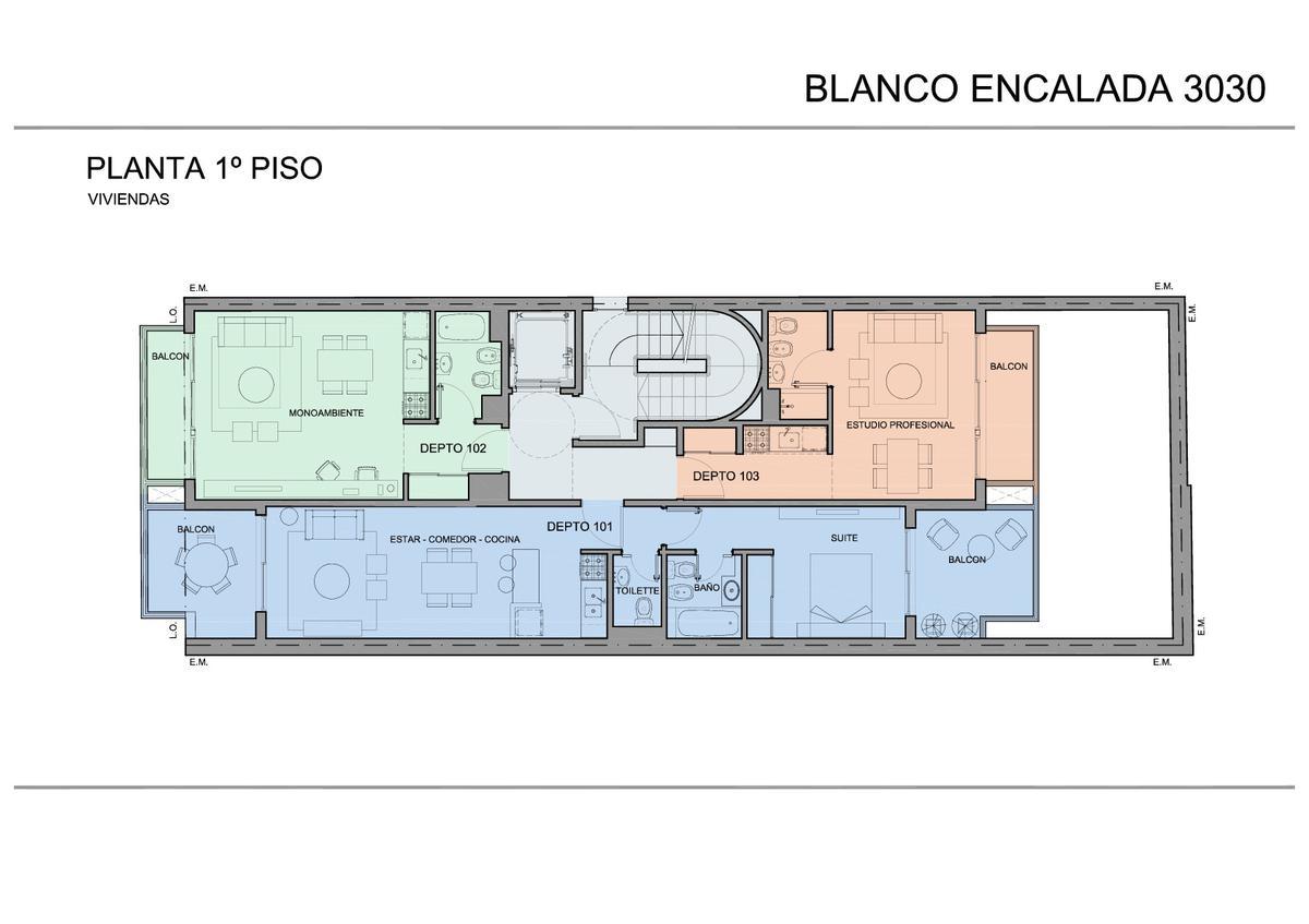 Foto Edificio en Belgrano BLANCO ENCALADA 3030 número 5