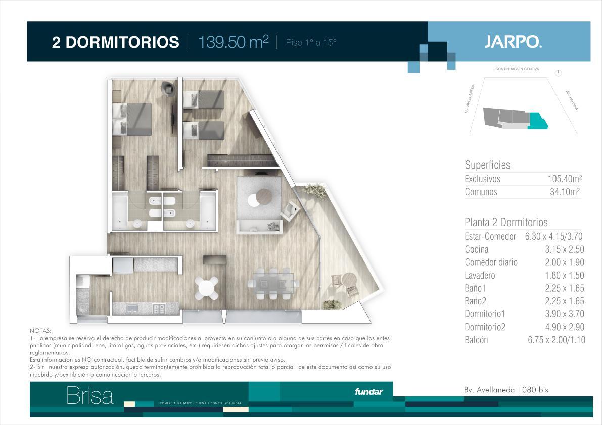 Foto Departamento en Venta en  Rosario ,  Santa Fe  Bv Avellaneda y Genova