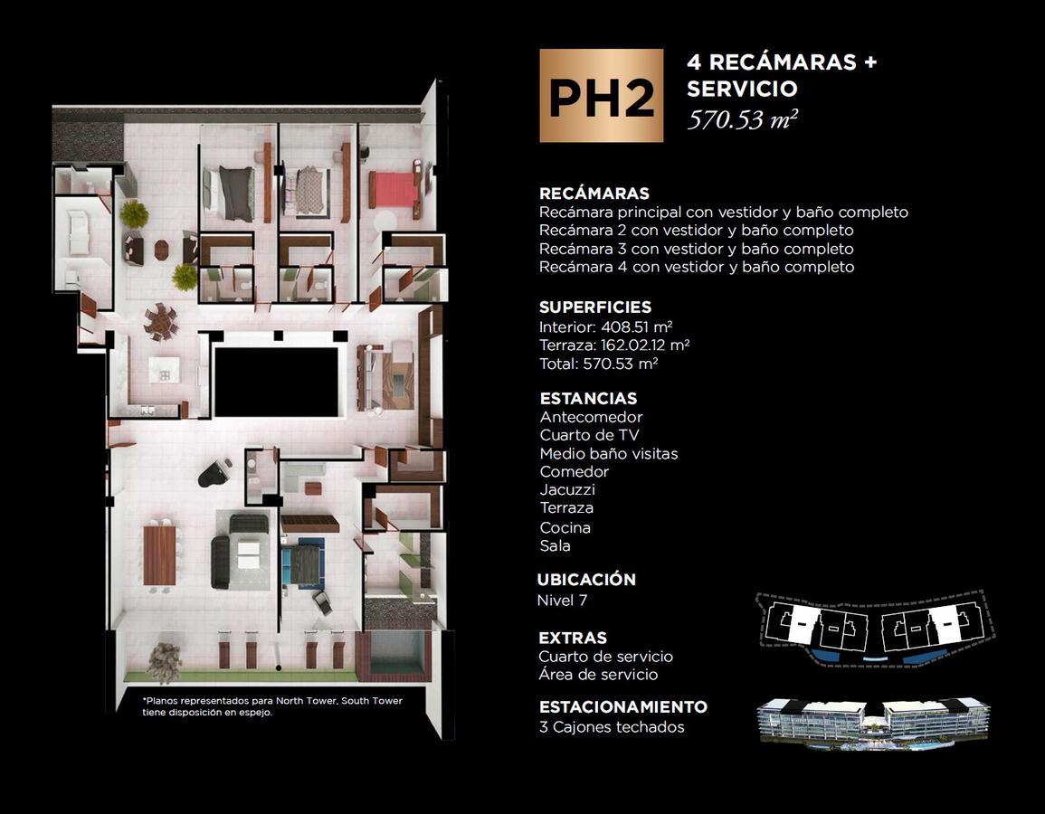 """Foto Edificio en Cancún Centro ALLURE Osean Front Luxury Condos """"Vive en la playa y en la ciudad""""  número 37"""