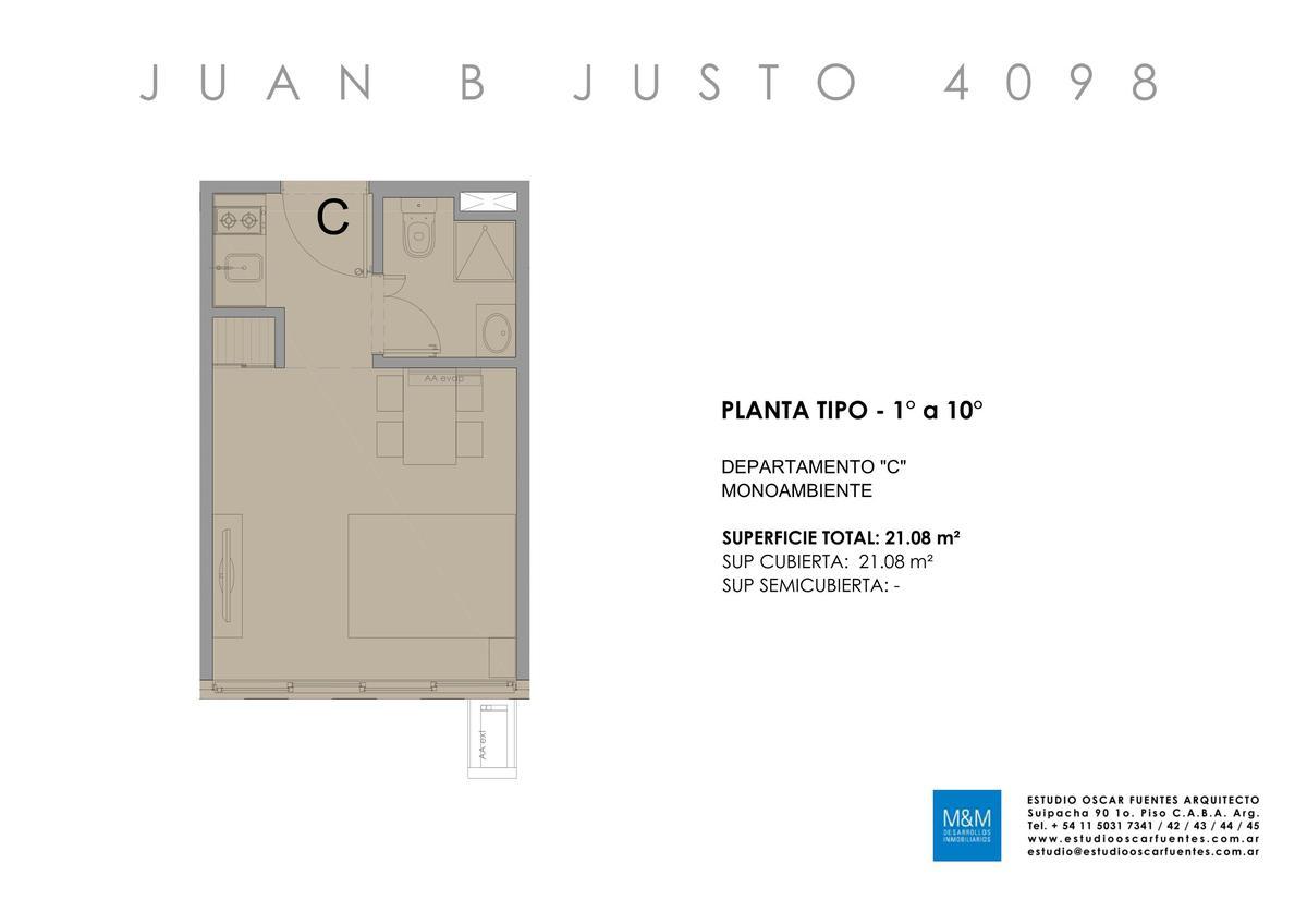 Foto Edificio en Caballito Juan B Justo 4098 número 19