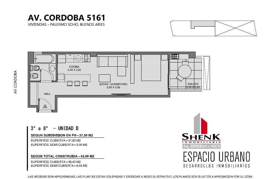 Foto Edificio en Palermo CORDOBA 5100 número 15