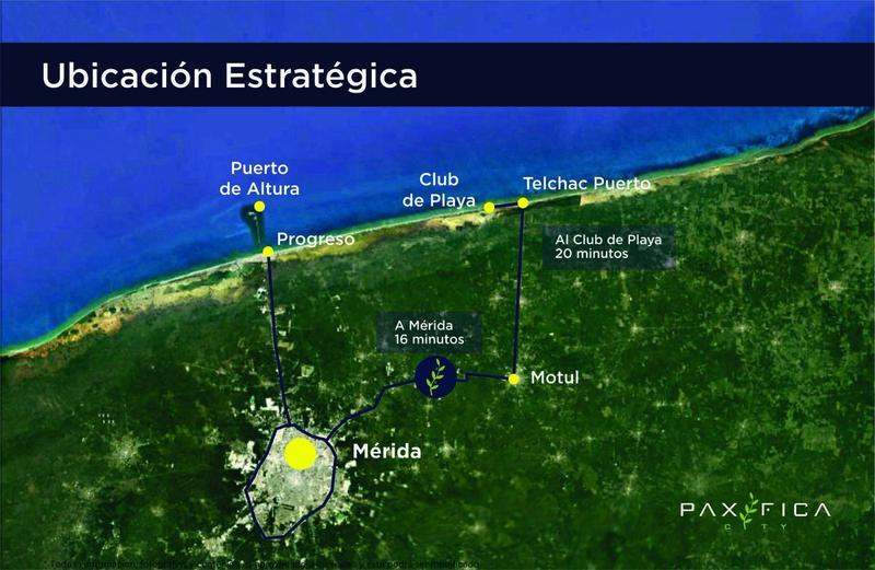 Foto Barrio Privado en Muxupip PAXIFICA CITY se encuentra ubicada al oriente de la ciudad de Mérida, Yucatán, en el municipio de Muxupip a tan solo 18 minutos. Cuenta con una inmejorable ubicación y accesibilidad gracias a la carre número 3