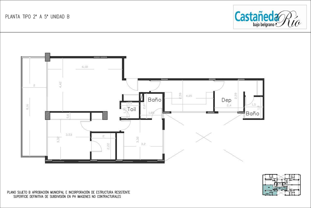 Emprendimiento Castañeda al Rio: Castañeda 1860 (y Sucre) en Belgrano