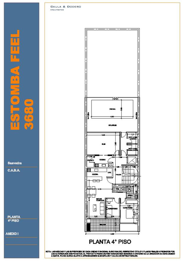 Emprendimiento Estomba 3680 en Saavedra